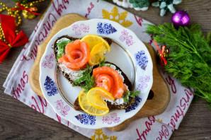 Бутерброды с красной рыбой и лимоном - фото шаг 7