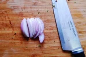 Салат овощной с ветчиной - фото шаг 4