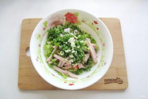 Салат с пекинской капустой и копченой курицей - фото шаг 7