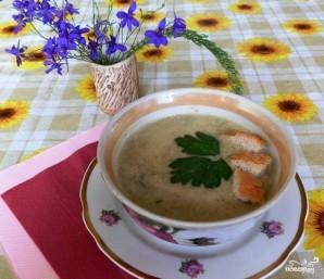 Сырный суп с шампиньонами - фото шаг 5