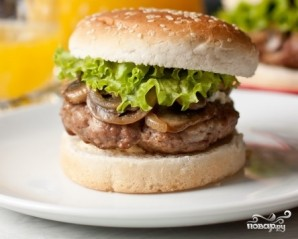 Гамбургер с сыром - фото шаг 6