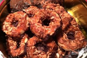Песочное печенье с кокосом, карамелью и шоколадом - фото шаг 18