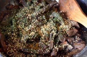 Горячая закуска из печени с грушей - фото шаг 5