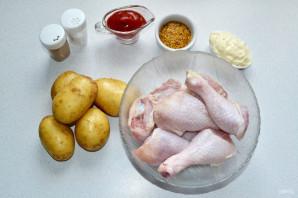 Картошка с куриными ножками в рукаве - фото шаг 1