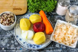 Борщ с квашеной капустой и фасолью - фото шаг 1