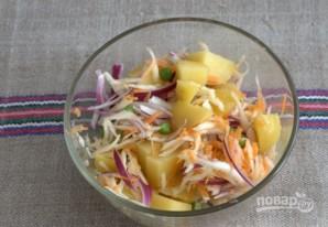 Картофельный салат с квашеной капустой - фото шаг 6