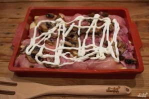 Мясо по-французски в духовке с картошкой - фото шаг 4