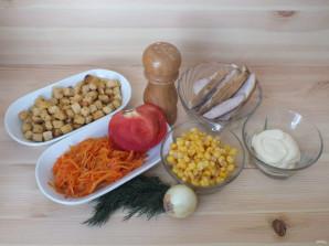 """Салат """"Эдельвейс"""" с корейской морковью - фото шаг 1"""