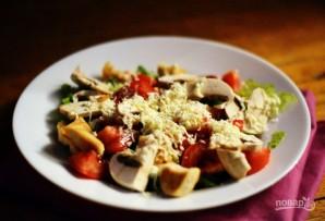 Салат из свежих шампиньонов и курицы - фото шаг 4