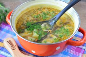 Грибной суп с сухариками - фото шаг 9