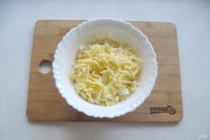 Крабовый салат с яблоком - фото шаг 5