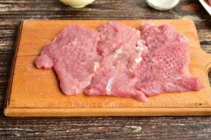 Рулет из свинины с овощами - фото шаг 2