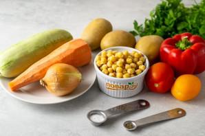 Овощное рагу с нутом - фото шаг 1