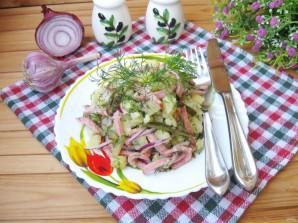 Картофельный салат с колбасой - фото шаг 8