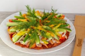 Курица с овощами на гречневой галете - фото шаг 9