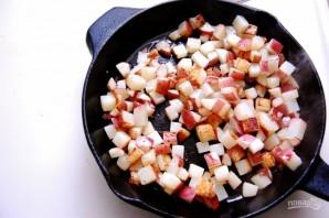 Яичница с артишоками и картофелем - фото шаг 2