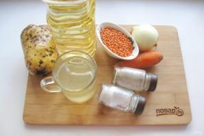 Суп с чечевицей и картофелем - фото шаг 1