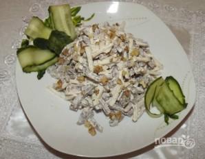 Салат из языка с грецкими орехами - фото шаг 4