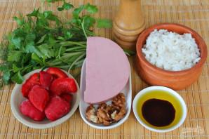 Салат с рисом и колбасой - фото шаг 1