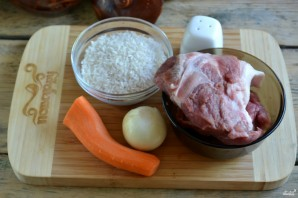 Рис с мясом в духовке - фото шаг 1