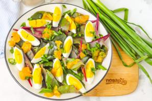 Салат из листьев свеклы - фото шаг 5