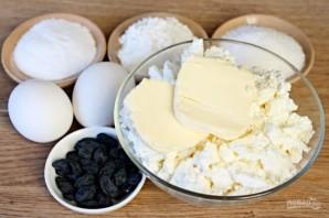 Творожное печенье с изюмом - фото шаг 1
