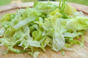 Салат с зелеными яблоками - фото шаг 1