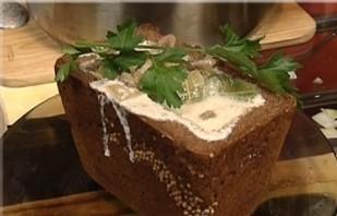Грибной суп в бородинском хлебе - фото шаг 5