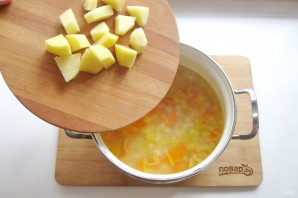Томатный суп с фасолью и курицей - фото шаг 8