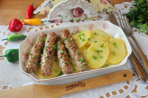 Чевапчичи с картошкой в духовке - фото шаг 12