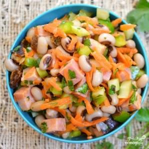 Сытный салат с черноглазкой - фото шаг 12