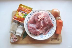 Свиной холодец с желатином - фото шаг 1