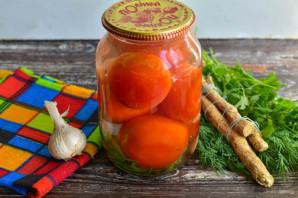 Соленые помидоры с чесноком и хреном - фото шаг 7