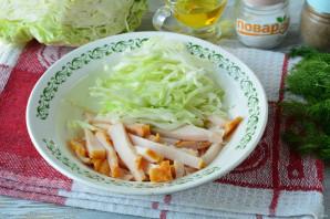 Салат с капустой, ветчиной и сухариками - фото шаг 6