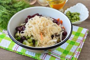 Винегрет с фасолью и горошком - фото шаг 5