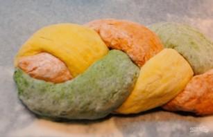 Трёхцветный хлеб с натуральными красителями - фото шаг 4