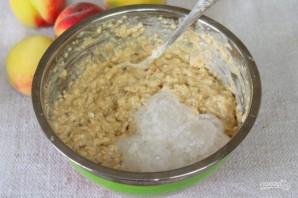 Овсяный пирог с персиками - фото шаг 5