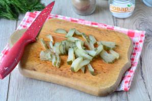 Слоеный салат с сердцем - фото шаг 6