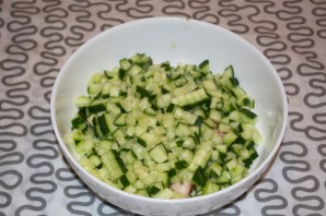 Салат с копченой курицей и шампиньонами - фото шаг 1