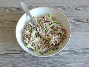 Салат с говядиной и сухариками - фото шаг 9