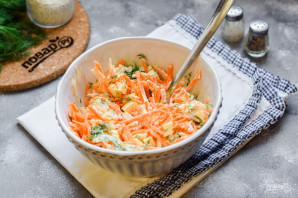 Куриный салат с морковью - фото шаг 6