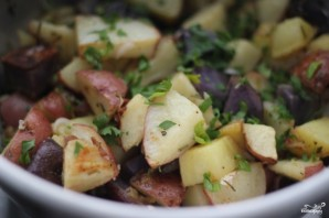Картофельный салат без майонеза - фото шаг 4
