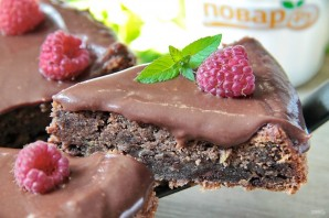 Шоколадный листовой торт с цуккини - фото шаг 12