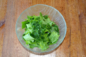 Салат со шпинатом и огурцом - фото шаг 5