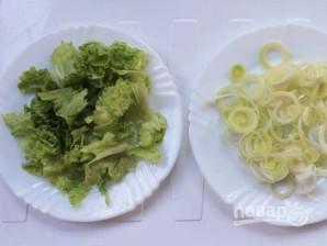 Салат из зеленой гречки - фото шаг 4