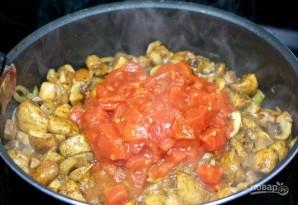 Тушеные грибы с зеленым горошком - фото шаг 4