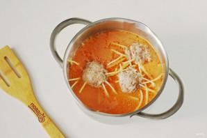 Осьминожки из фарша и спагетти - фото шаг 6