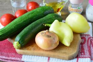 Цукини с помидорами и перцем на зиму - фото шаг 1