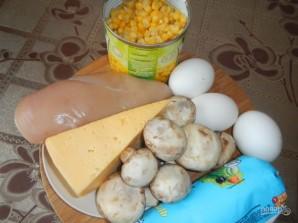 Салат из куриных грудок с грибами - фото шаг 1