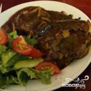 Грибной стейк Салисбури - фото шаг 5